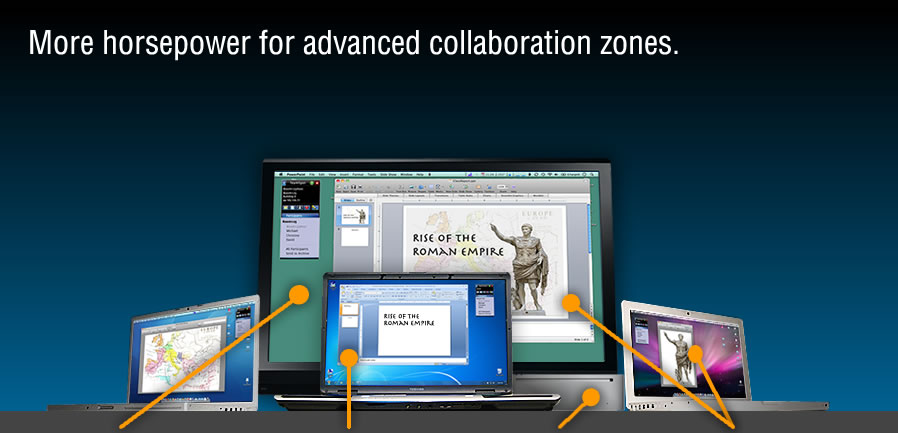 More horsepower for advanced collaboration zones.
