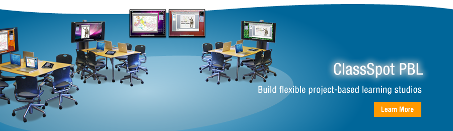 Build flexible Project-Based Learning studios. Tidebreak's award-winning technologies deliver the power and flexibility for advanced team-based learning spaces.